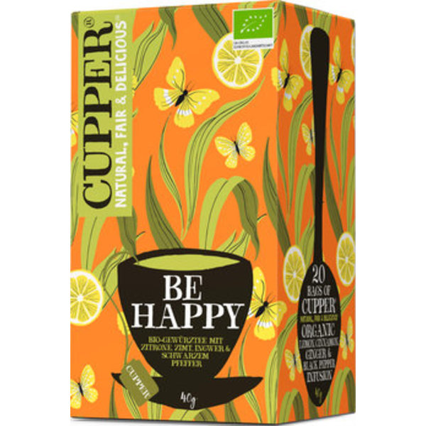 Bio CUPPER Be Happy Tee   40g / 20 Beutel